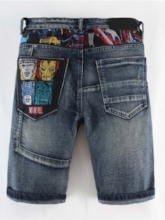 Straight Embroidery European Men's Jeans