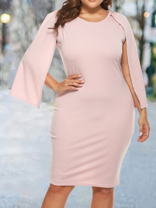 plus la taille neuf points manches col rond longueur genou robe taille standard femmes