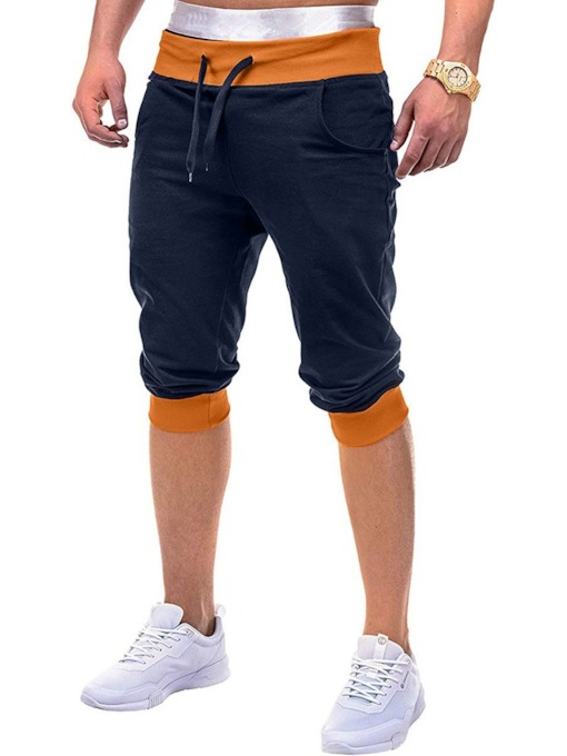 Mid Waist Men's Casual Pants