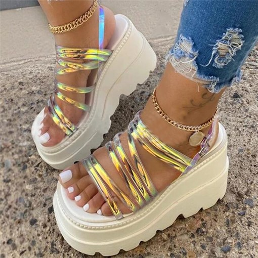 Platform Buckle Open Toe Casual Sandals