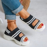 Open Toe Slip-On Flat With Casual Sandals