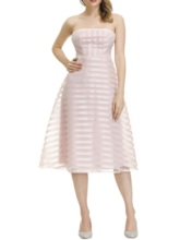 Mid-Calf Sleeveless Pullover Party/Cocktail A-Line Stripe Off Shoulder Women's Dress
