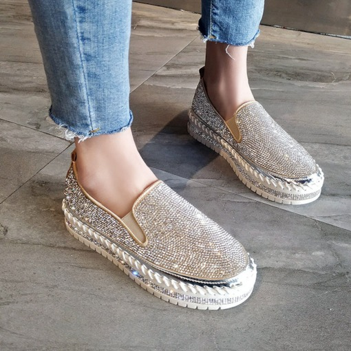 Slip-On Flat With Platform Round Toe Mid-Heel (3-5cm) Thin Shoes