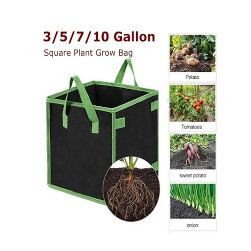 Grow Bags Non-Woven Fabric Floor Mounted
