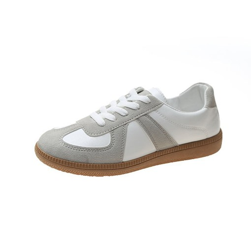 Low-Cut Upper Thread Lace-Up Round Toe Casual Sneakers
