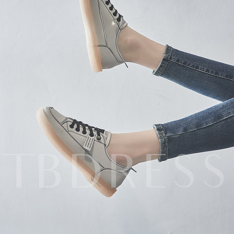Lace-Up Thread Flat With Round Toe Flat Heel(≤1cm) Thin Shoes