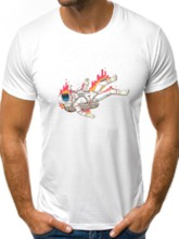 Casual Round Neck Print Loose Men's T-shirt