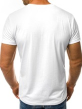 Round Neck Print Casual Short Sleeve Loose Men's T-shirt