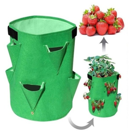 Floor Mounted Strawberry Vegetables Plant Grow Bags