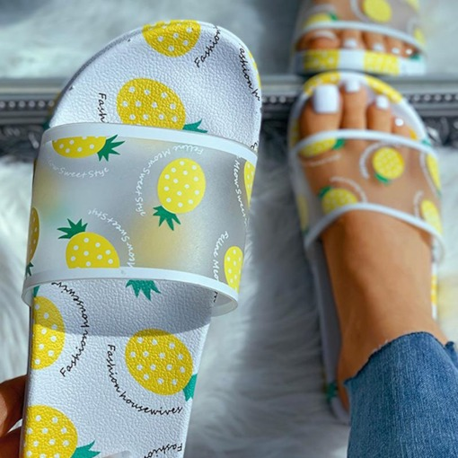 Flip Flop Flat With Print Slip-On Casual Slippers