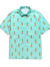 Shirt Print Casual Plant Fall Men's Outfit
