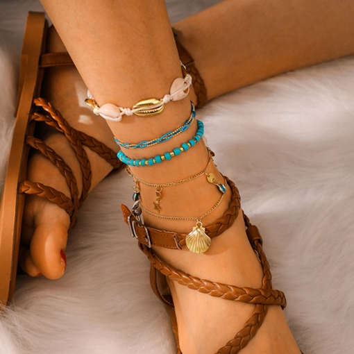 Spherical European Female Anklets Anklets
