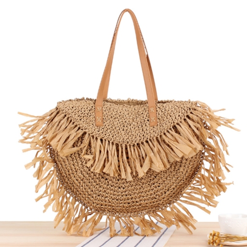 Grass Plain Tassel Saddle Tote Bags