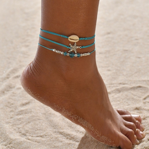 European Female Star Anklets Anklets