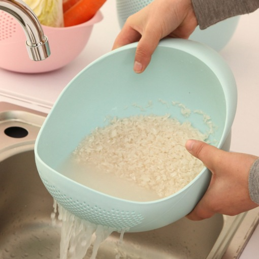 Plastic Drained Vegetables Rice Washing Sieves