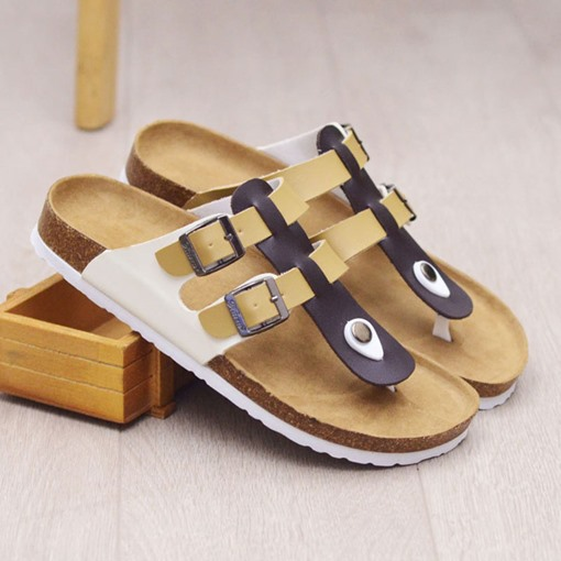 PU Casual Buckle Summer Slippers