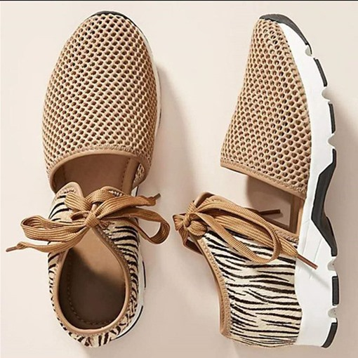 Flat With Lace-Up Round Toe Low-Cut Upper Thin Shoes