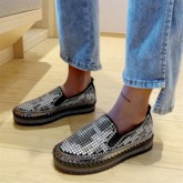 Slip-On Round Toe Platform 4cm Thin Shoes