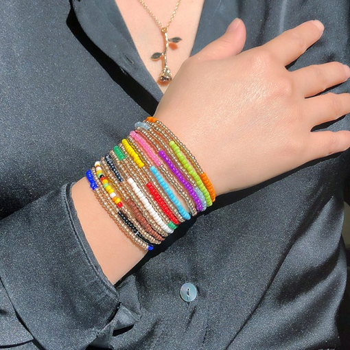 Color Block Handmade Ethnic Female Bracelets