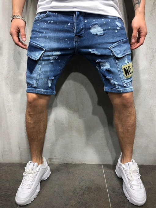 Summer Mid Waist Denim Thin Zipper Casual Men's Jeans