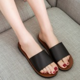 Flat With Slip-On Flip Flop Plain Slippers