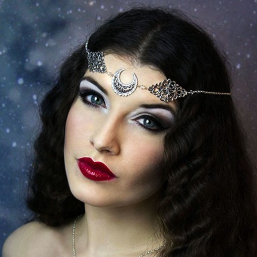 Hollow Out Head Chain Vintage Party Hair Accessories