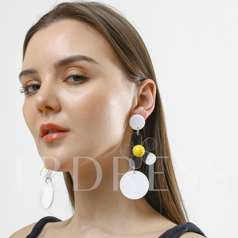 Acrylic Sweet Wedding Earrings
