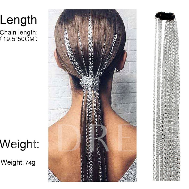 E-Plating Sweet Head Chain Party Hair Accessories