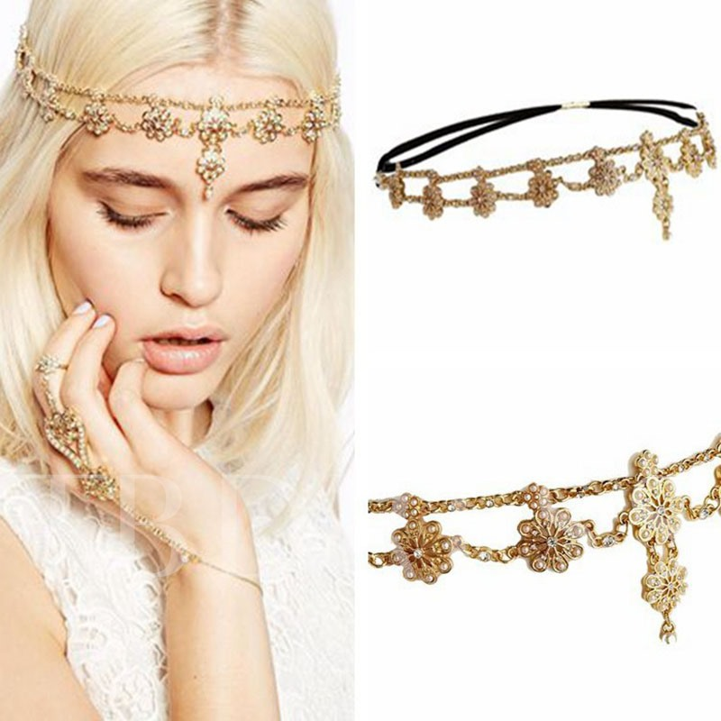 Diamante Head Chain Sweet Wedding Hair Accessories