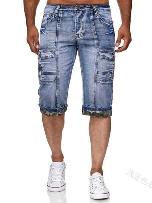 Summer Pocket Slim Zipper Men's Shorts