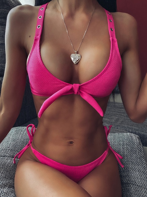 Hot Bikini Set Plain Women's Swimwear