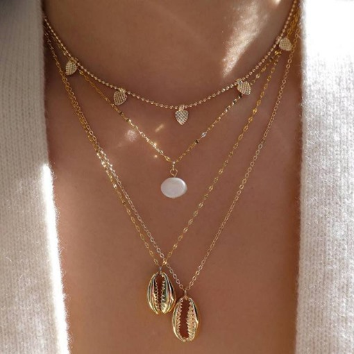Pendant Necklace E-Plating Sweet Female Necklaces