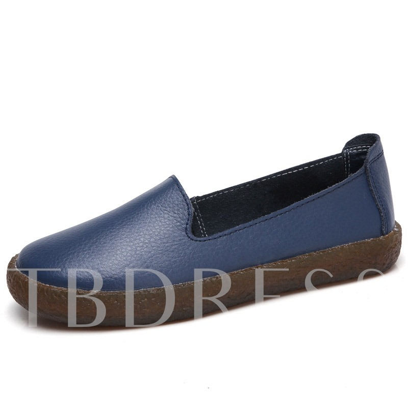 Flat With Round Toe Slip-On Low-Cut Upper Thin Shoes