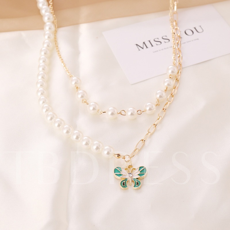 E-Plating Sweet Pendant Necklace Female Party Gift Necklaces