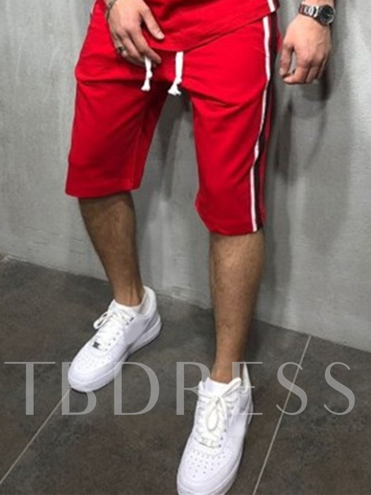 Stripe Straight Casual Men's Shorts