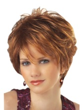 Straight Synthetic Hair Capless 10 Inches Wigs