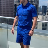 Plain Shorts Men's Jumpsuits/Overalls