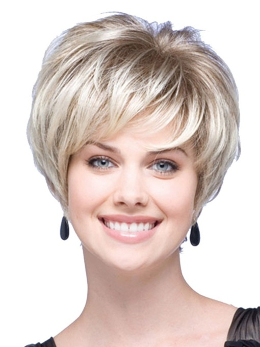 Capless Straight 12 Inches Women Synthetic Wigs
