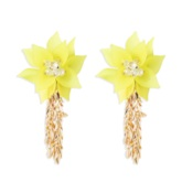 Sweet Tassel Plastic Party Holiday Earrings