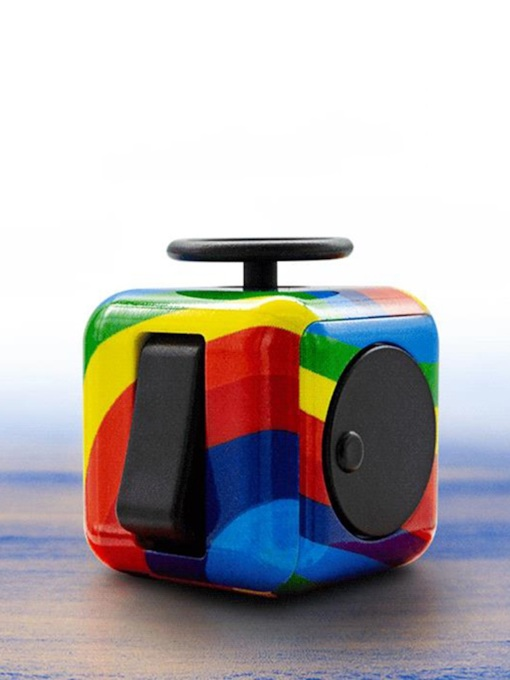 Educational ABS Fidget Toys Rubik's Cube with Multicolor