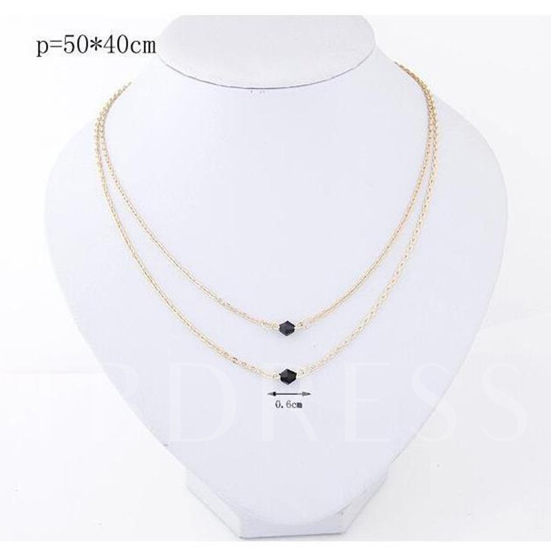 European E-Plating Pendant Necklace Anniversary Female Necklaces