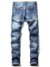 Embroidery Straight European Men's Jeans