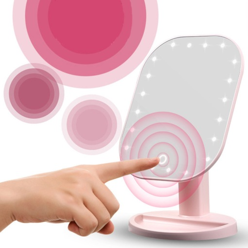 Touch Dimmer LED Desktop Makeup Mirrors