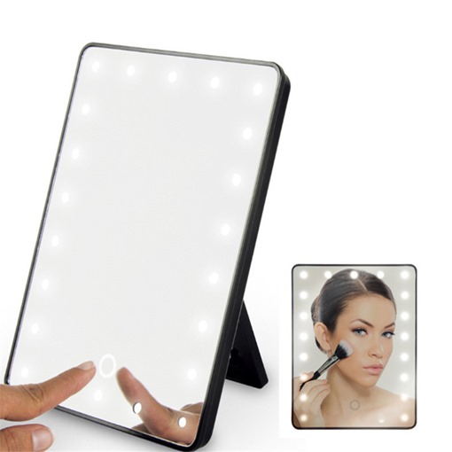 Foldable Square 360° Rotation LED Makeup Mirrors