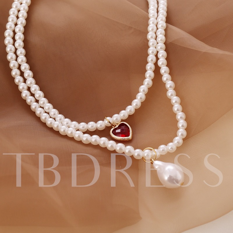 Female Pendant Necklace Sweet E-Plating Party Necklaces