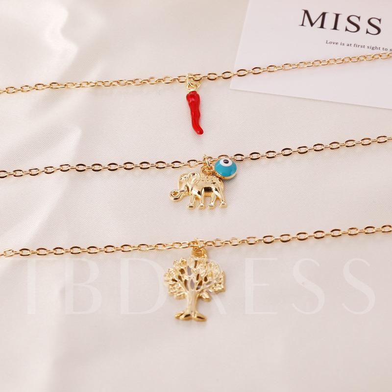 E-Plating Vintage Pendant Necklace Anniversary Female Necklaces