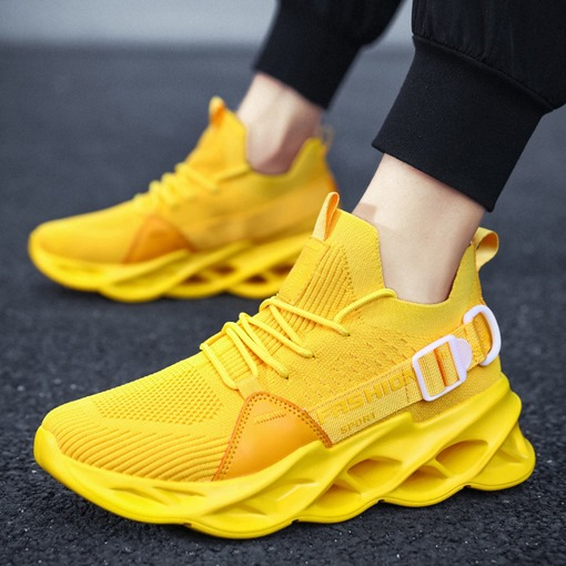 Mid-Cut Upper Sports Lace-Up Platform Round Toe Sneakers