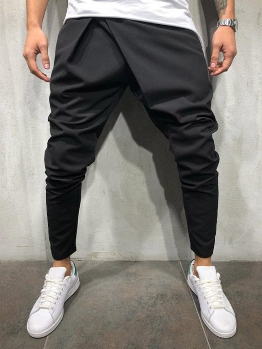 Loose Plain Pencil Pants Casual Men's Casual Pants