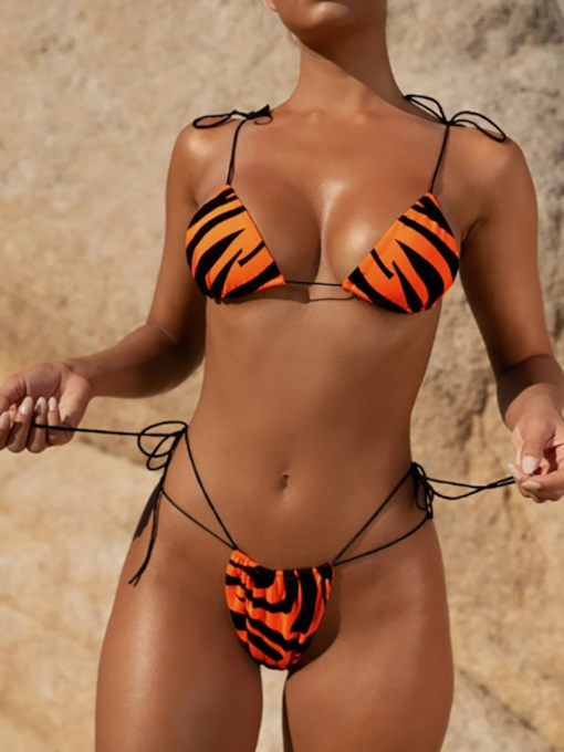 Hot Color Block Bikini Set Female's Swimwear