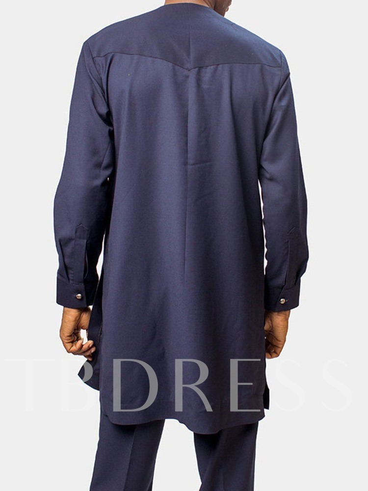 Round Neck Fall Men's Shirt